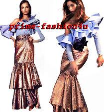 Johanna Ortiz D'Artagnan Fluted Rose Gold Jacquard Maxi Skirt Gown