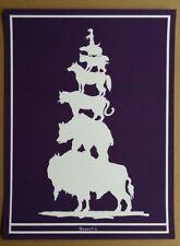 MARK DION  Originalserigrafie handsigniert, Griffelkunst Weltordnung der Tiere