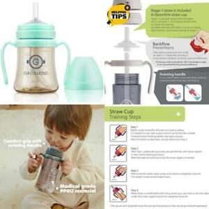 Grosmimi Spillproof No Spill Magic Sippy Cup With Straw With Handle For Baby And