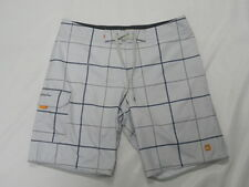 """Quiksilver Waterman Collection Square Root 20"""" Gray Boardshorts Swimwear Sz 34"""