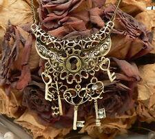 chaîne pendentif steampunk gothique Millésime clé bijoux fantaisie antique