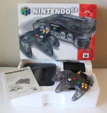+ADULT OWNED+ Smoke Grey Funtastic Atomic Black Nintendo 64 Console Complete CIB