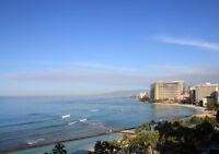 "HONOLULU HAWAII NEW A1 CANVAS PRINT POSTER FRAMED 33.1""x23.4"""