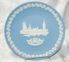 Wedgwood Houses of Parliament Jasperware Commemorative Plate for Christmas 1974
