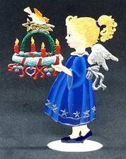 """Wilhelm Schweizer German Zinnfiguren Angel Carrying Advent Wreath (2.75"""" X 3.75"""""""