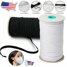 Elastic Band Cord Knit 8-125 Yards Length Sewing 1/4 1/8 inch For Face Mask DA U