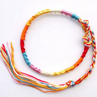20Pcs Colorful Woven Wristband Braided Cord Friendship Band Bracelets