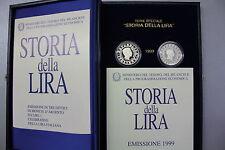ITALIA STORIA DELLA LIRA ITALIANA FS cofanetto + 2 monete argento PROOF - BE PP