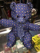 "Auth Salvatore Ferragamo Bear Doll Toy Blue Color Silk  ""MAKE AN OFFER"""