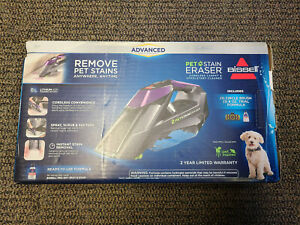 New Bissell Pet Stain Eraser Advanced Cordless Portable Spot Carpet Cleaner