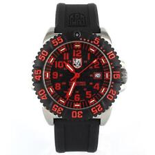 Luminox Authentic 3165 Navy Seal 200mm Dive Steel Red/Black Dial Night Vision!