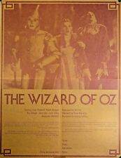 1980s Wizard of Oz Commercial Poster College Campus Tour Garland ORIGINAL RARE