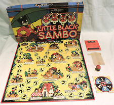 EXTREMELY SCARCE 1951 LITTLE BLACK SAMBO BOARD GAME by CADACO ELLIS