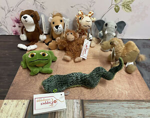 8x The Puppet Company Animal Finger Puppets - 6x New Tagged  2x New No Tags