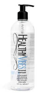 Water Based Personal Lubricant 16 oz by Healthy Vibes Intimate Lube for Couples