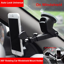 Universal 360° Rotation Car Mount Holder Cradle  Windshield For Mobile Phone GPS