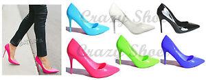 scarpe donna punta sfilata decollete tacco 9 cm. colori fluo 36 37 38 39 40 SS16