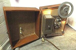 Keystone Sixty Deluxe 8MM Projector Runs Smoothly. Forward & Rewind Work Good