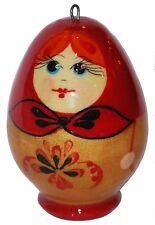Russian Matryoshka Ornament Egg Doll Fair Trade Eco Christmas Pysanky Crossroads