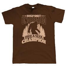 Bigfoot Hide & Seek Champion, Mens Funny T Shirt - Xmas Gift Him Dad Fathers Day