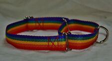 Adjustable Martingale Dog Collar - Rainbow colours