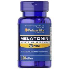 MELATONIN 3 mg 120 tablets / PURITANS PRIDE / Free Shipping