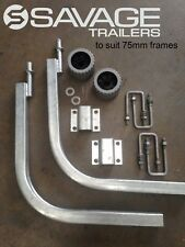 BOAT TRAILER GUIDE POLES - ROLLER - GAL - FIT 70/75mm frames - 1 x PAIR - LONG