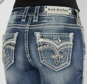 Rock Revival Rima Easy Skinny Stretch Womens Jeans 27 28 29 30 31 32 33 34 NEW