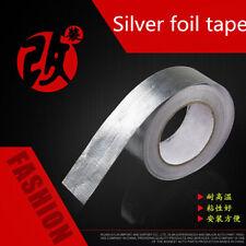 25m High Heat Insulation Aluminium Wrap Exhaust Header Pipe Tape Cloth Silver P8