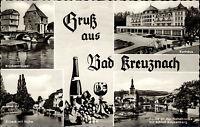 Bad Kreuznach Mehrbildkarte ~1970/80 Kurhaus Nahebrücke Kauzenburg Brückenhäuser