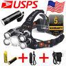 Super bright 100000LM T6 LED Headlamp Headlight Flashlight Head Torch lamp light