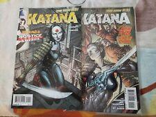 Katana Comic Book Issues #1 & #2 (2013 DC Comics) The New 52
