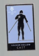 2002 Salt Lake City Olympic Pin Soldier Hollow Cast Cross Country Skiing