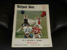 1967 DUKE AT NC STATE COLLEGE FOOTBALL PROGRAM  EX