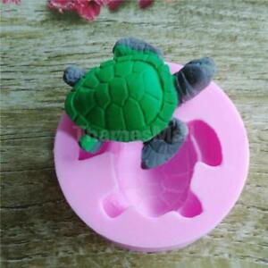 Tortoise Shape Chocolate Fondant Mold Candy Cake Decor Silicone Mould CF