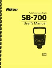 Nikon Sb-700 Sb700 Speedlight Flash Owner'S Instruction Manual