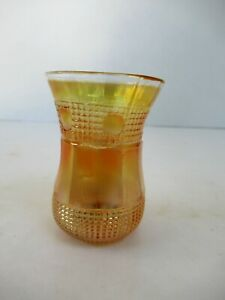 """Vintage Carnival Glass Beaded Spears Probable Jain Shot glass Collectibles """"F44"""