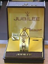 Jubilee 17 Jewels Wind Up Women's Vintage Gold Link Watch By Longines-Wittnauer