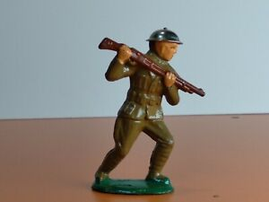 BARCLAY Toy Soldier w/Rifle RARE #765 MANOIL 1930's