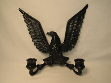 Vintage Metal Cast Iron Patriotic Eagle Candle Holder Wall Mounting