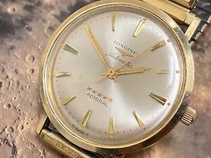 wristwatch LONGINES ADMIRAL 5 STARS automatic SWISS 10 K gold f. cal 342