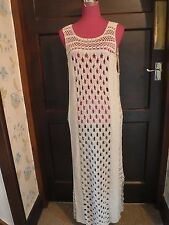Beautiful  All Saints Elkin Maxi  Dress Beige Size 12 VGC