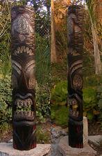 "Tiki Turtle Hawaiian Style Wood Mask Patio Tropical Bar Decor 39"""