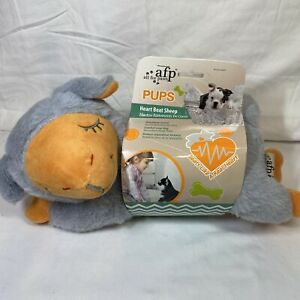 AFP Snuggle Sheep Audible Heartbeat For Dogs Toy Plush Gray NEW