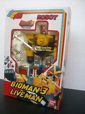 BIOMAN-LIVEMAN 1988 TOEI-BANDAI ROBOT RARE,BRAND SEALED!!!!.SENTAI POPY CHOGOKIN