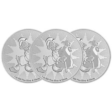Lot of 3 - 2018 $2 Niue Silver Scrooge McDuck Disney .999 1 oz Brilliant Uncircu