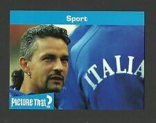 Roberto Baggio Soccer Football Italy Celebrity Collector Card