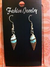 Rose Gold Plated Ice Cream Earrings  Magical  Retro