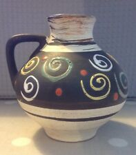 West German Studio Pottery  Retro c 1960s 1970s Vase Jug 623 / 10