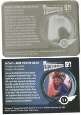 Thunderbirds 50 Years Printing Plate for Base Card #21 Move & Youre Dead [ back]